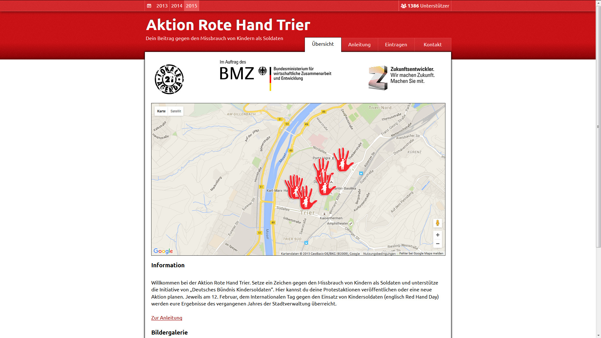 Aktion Rote Hand Trier Website